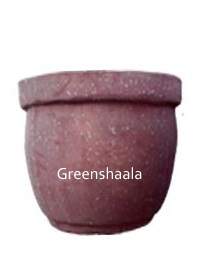 Brown Marble Round Pot